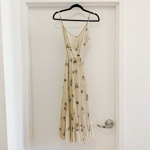 Aritzia floral wrap dress